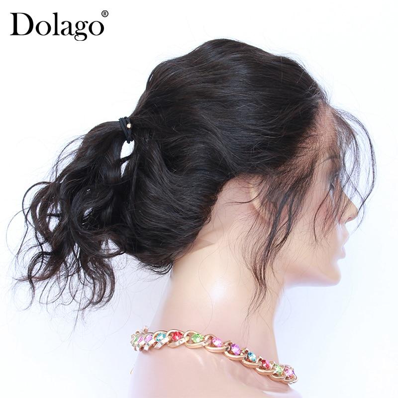 360 синтетический парик, волнистая волна тела, предварительно сорванная с волосами младенца, натуральный черный цвет, натуральные волосы Мал