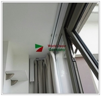 L Type window Single curtain track, Super SILENT smart home used motorized curtain, DOOYA motor DT82TN curtains for living room