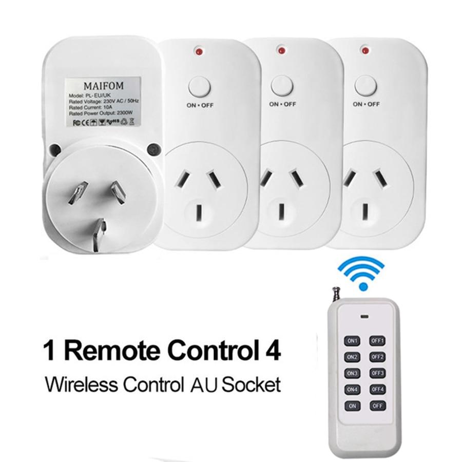AU Plug Smart Socket RF433 Kaugjuhtimispuldi pistikupesa Seinakontakt Nutikas kodu elektriline pesa 110 ~ 230V / AC