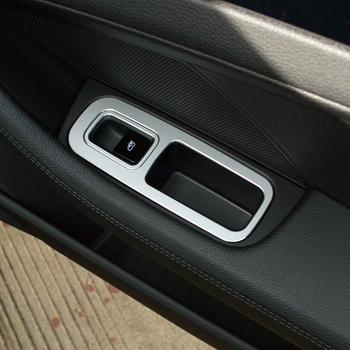 FIT  FOR Porsche Cayenne 2018 2019 Aluminium Alloy  Interior Accessories Interior Door Armrest Window Cover Trim 4PCS