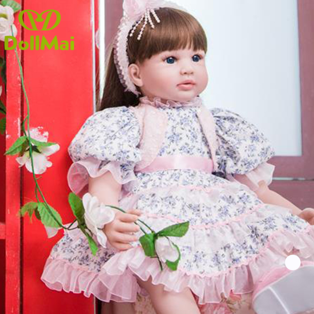 60cm Silicone Reborn Baby Doll Toys 24inch Vinyl Princess Toddler Girl real baby alive Doll bebe Birthday Gift reborn boneca60cm Silicone Reborn Baby Doll Toys 24inch Vinyl Princess Toddler Girl real baby alive Doll bebe Birthday Gift reborn boneca