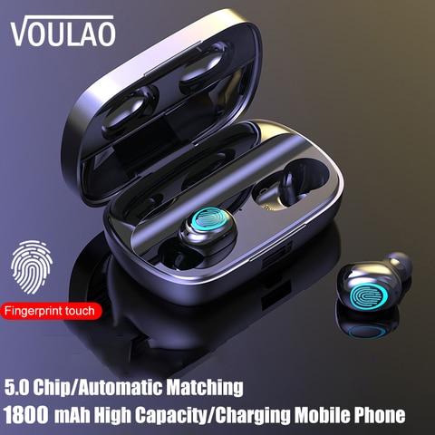 VOULAO Wireless Headphone S11 TWS Bluetooth Earphones 9D Stereo Earbuds With 1800mAh Power Bank Bluetooth V5.0 Wireless Headset Pakistan