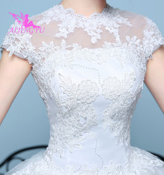 AIJINGYU 2018 elegant free shipping new hot selling cheap ball gown lace up back formal bride dresses wedding dress WK136 3