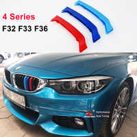 For 2014-2018 BMW 4 series F32 F33 F36 420i 425i 428i 430i 435i 440i 3D M motorsport Front Grille Strip grill Cover Stickers