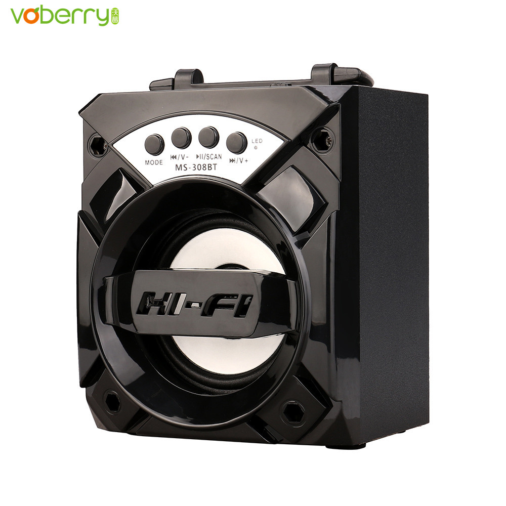 304BT/305BT/306BT/307BT/308BT/309BT LED Portable Wireless Bluetooth Speaker Super Bass MP3 Player Speakers With USB/TF/AUX/FM