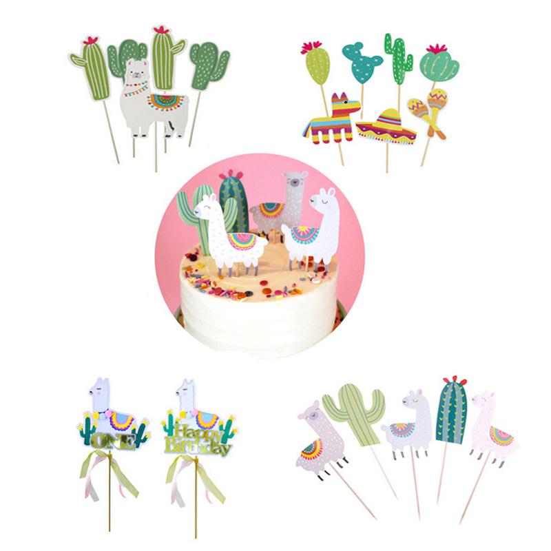 Outstanding Animal Alpaca Party Cake Toppers Birthday Party Decorations For Funny Birthday Cards Online Benoljebrpdamsfinfo