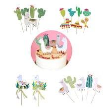 Decoração de festa de aniversário para festas, decoração de animal alpaca para festa de aniversário para crianças gatinhos