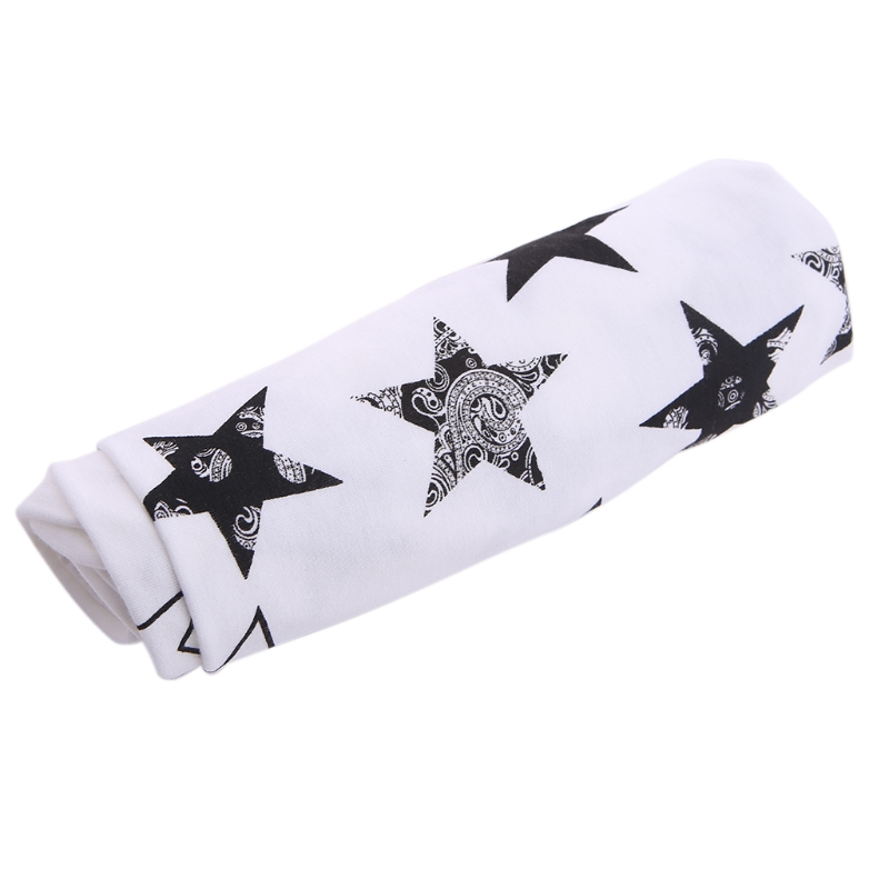 Baby Soft Cotton Blankets Swaddling Bed Star Printed Swaddle Wrap Sleeping Bag