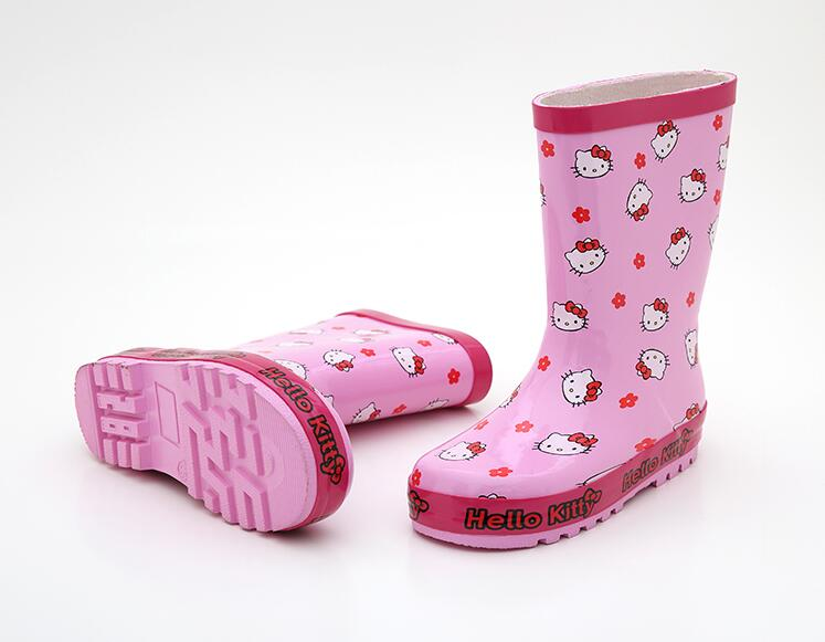 new arrival Girls Cartoon Rainboots, Baby Girl Pink Cat Rubber Rainboots Kids ...