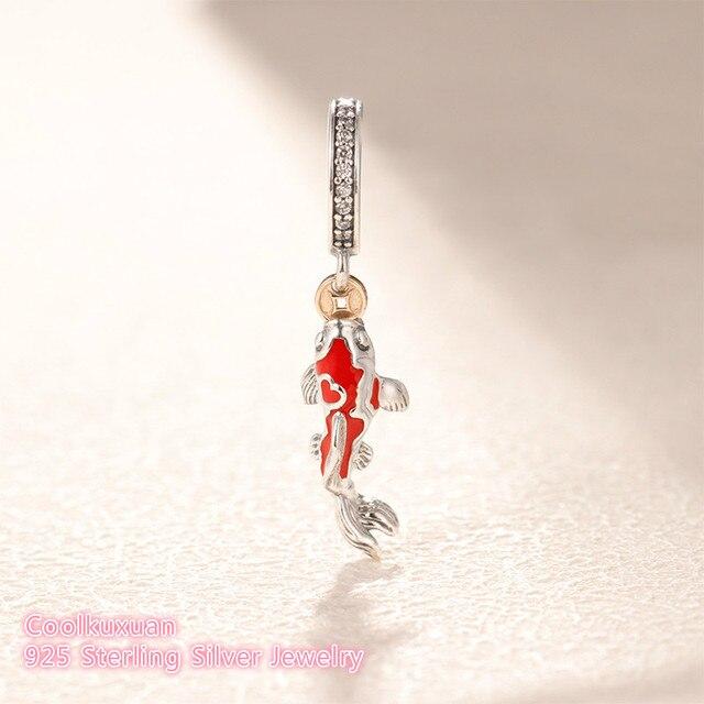 9ef9baf2037 2019 Valentine's Day Original 100% 925 Sterling Silver Good Fortune Carp  Charm beads Fit Pandora Charms Bracelet DIY jewelry