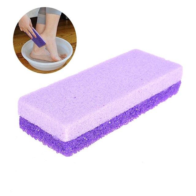 Utile de haute qualité pied pierre ponce éponge bloc callosités dissolvant pour pieds mains outils de beauté pédicure professionnelle soins des pieds
