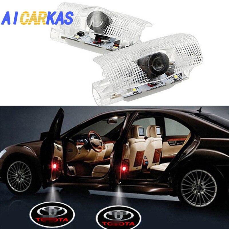 Из 2 предметов логотип огни призрак лампа аксессуары Дверные огни проектор Добро пожаловать Эмблема для Toyota Camry Prius Sequoia Sienna Tundra Venza