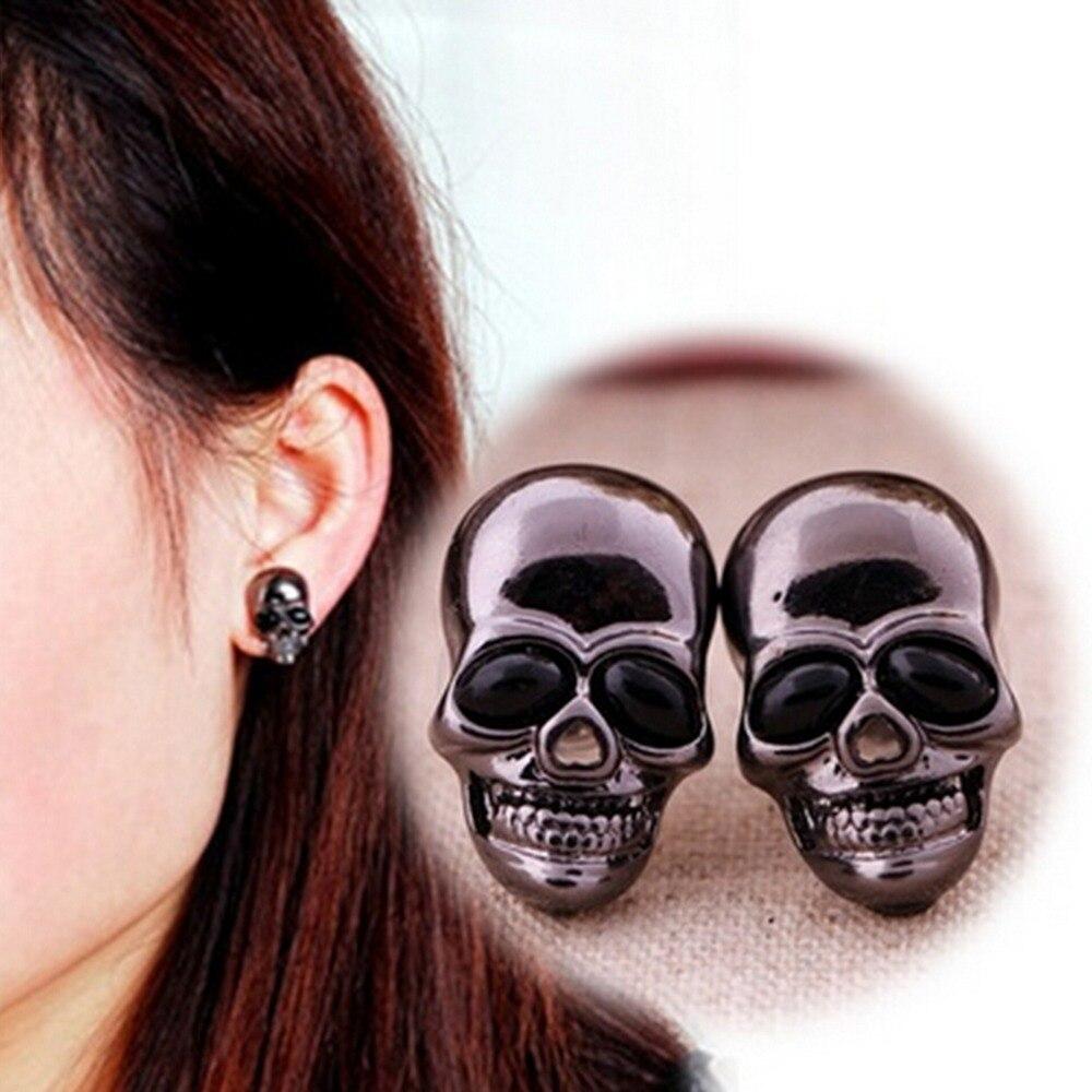 Skull Earrings Silver Jewelry Punk Rock Hip-Hop Cool Vintage Boys Skeleton for Men Hot-Sell