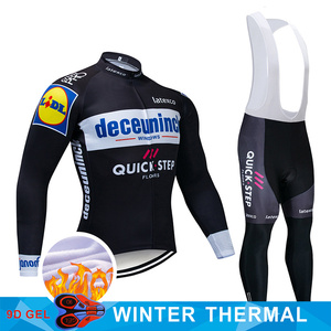 Image 5 - 4 Colors 2019 Team Cycling Jersey Set Belgium Bike Clothing Mens Winter Thermal Fleece Bicycle Clothes Cycling Wear
