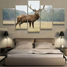 5 Piece HD Print Large Deer Animal Cuadros Decoracion Paintings on Canvas Wall Art for Home Decorations Decor Picture