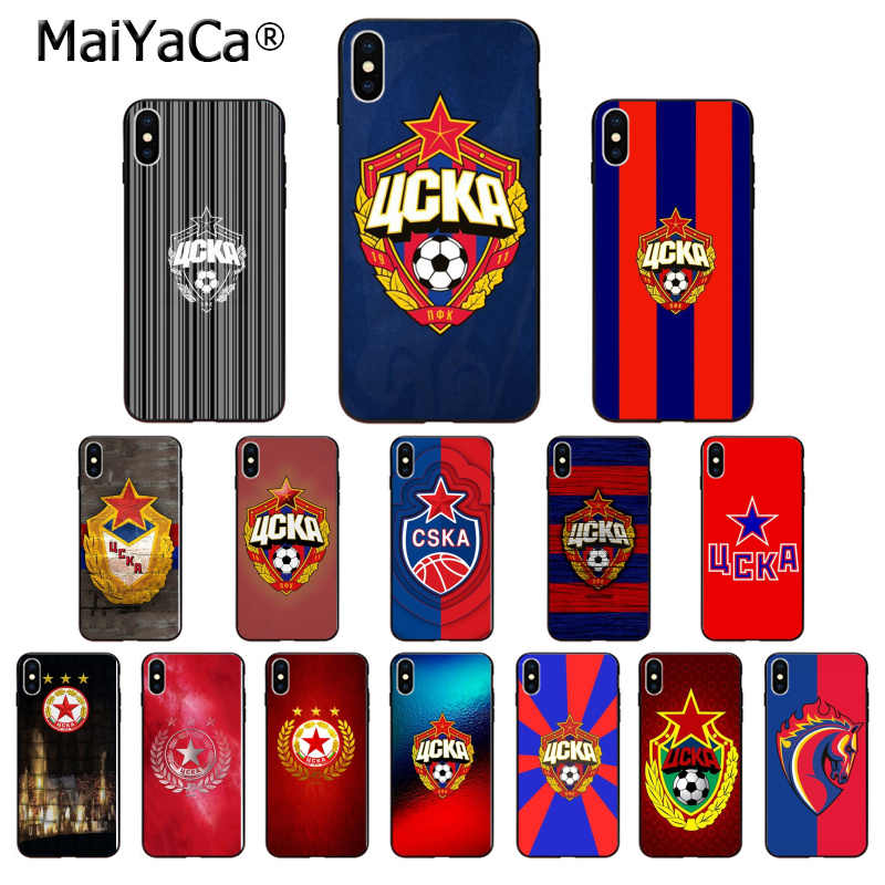 MaiYaCa PFC CSKA Moscow Football Team High Quality Phone Case for Apple iPhone 8 7 6 6S Plus X XS MAX 5 5S SE XR Cellphones