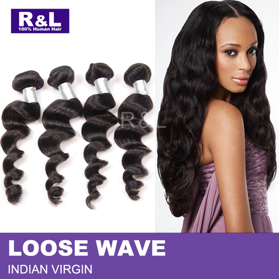 Peachy Unprocessed Indian Loose Wave 4 Bundles Remy Indian Loose Wavy Hairstyles For Women Draintrainus