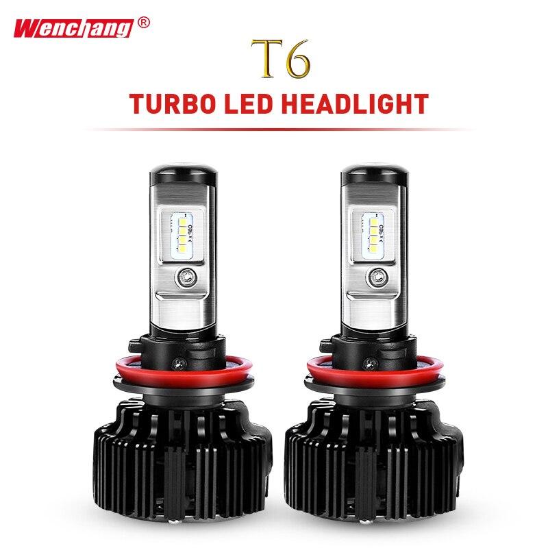 Вэньчан купить получить один T6 Turbo светодио дный фар H7 H4 светодио дный лампа фары турбодекодер H1 H3 H11 9005 9006 Здравствуйте/Lo луч