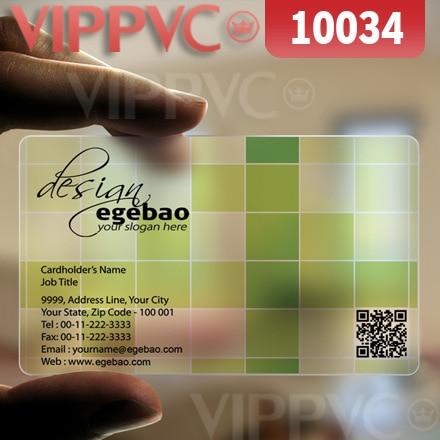 10034 design your own business cards matte faces transparent card