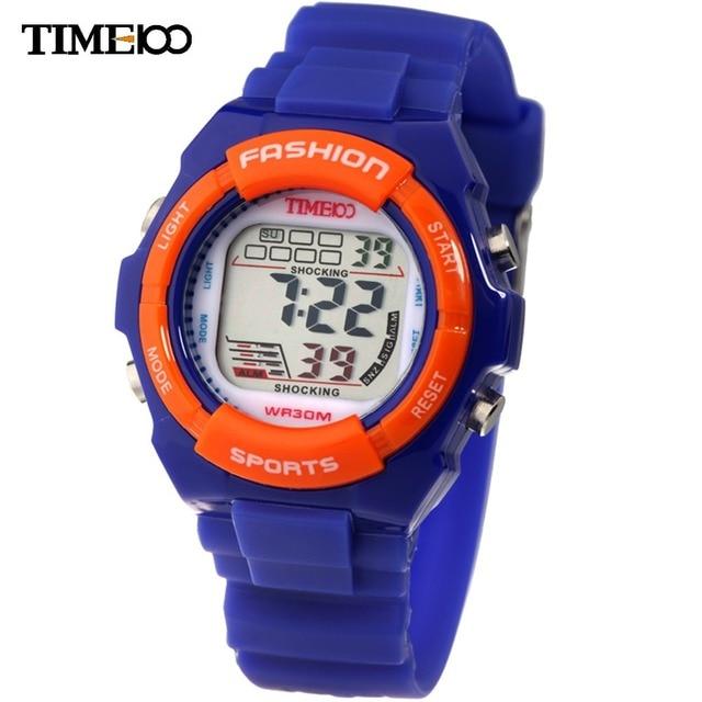 Time100 детские мультфильтяшные Часы для Детей Цифровые Часы для Студентов Спортивные Многофункциональные Военная LED Водонепроницаемый 30 М Наручные Часы