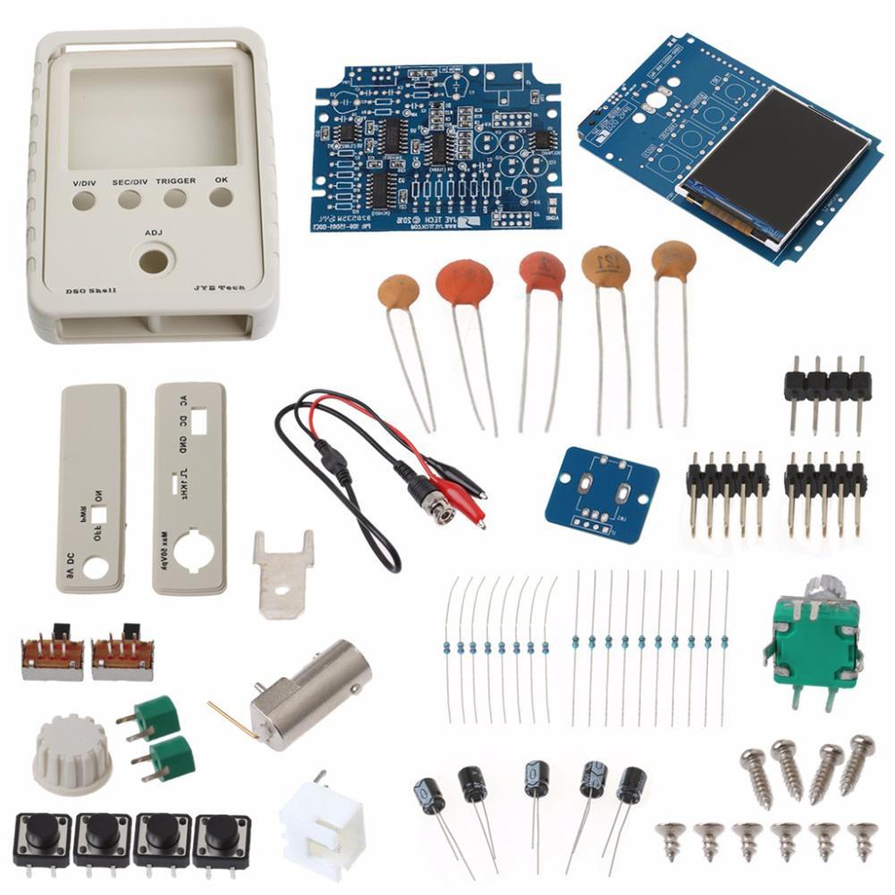 DSO150 0-200KHz DC 9V Digital Oscilloscope DIY Kit Electronic Training Teaching DIY Kit 1SET J3 other 6pcs diy 1set