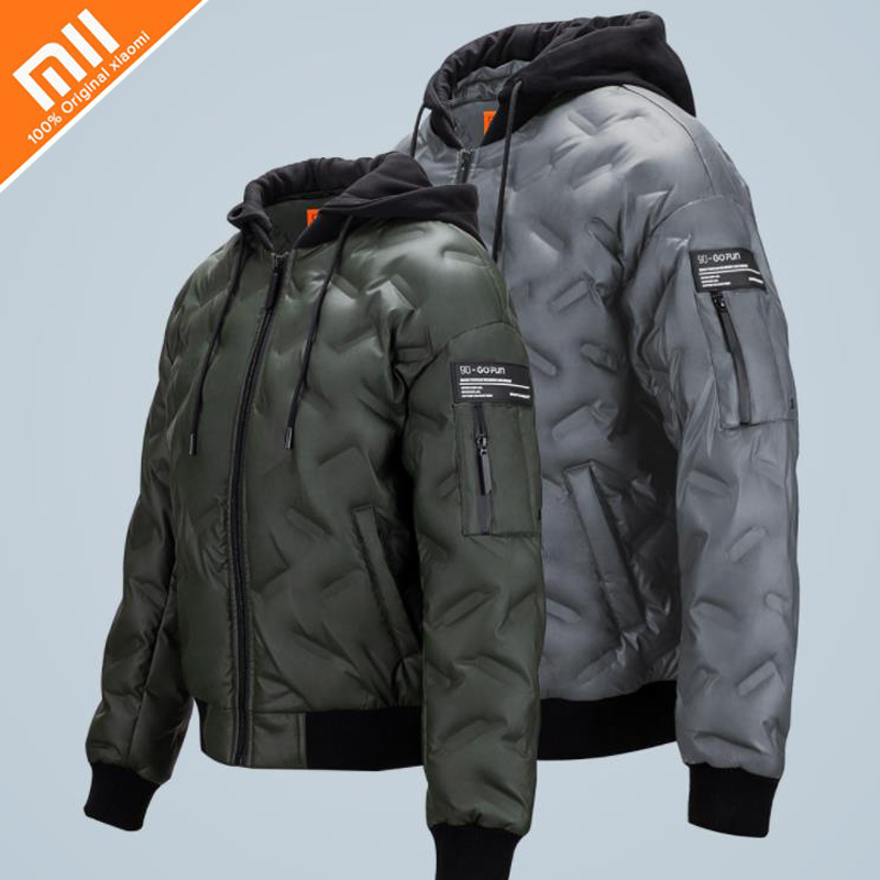Xiaomi 90% белый гусиный пух куртка мужская теплая с капюшоном мужская зимняя парка Женская Куртка теплое пуховое пальто Casaco Masculino Горячая
