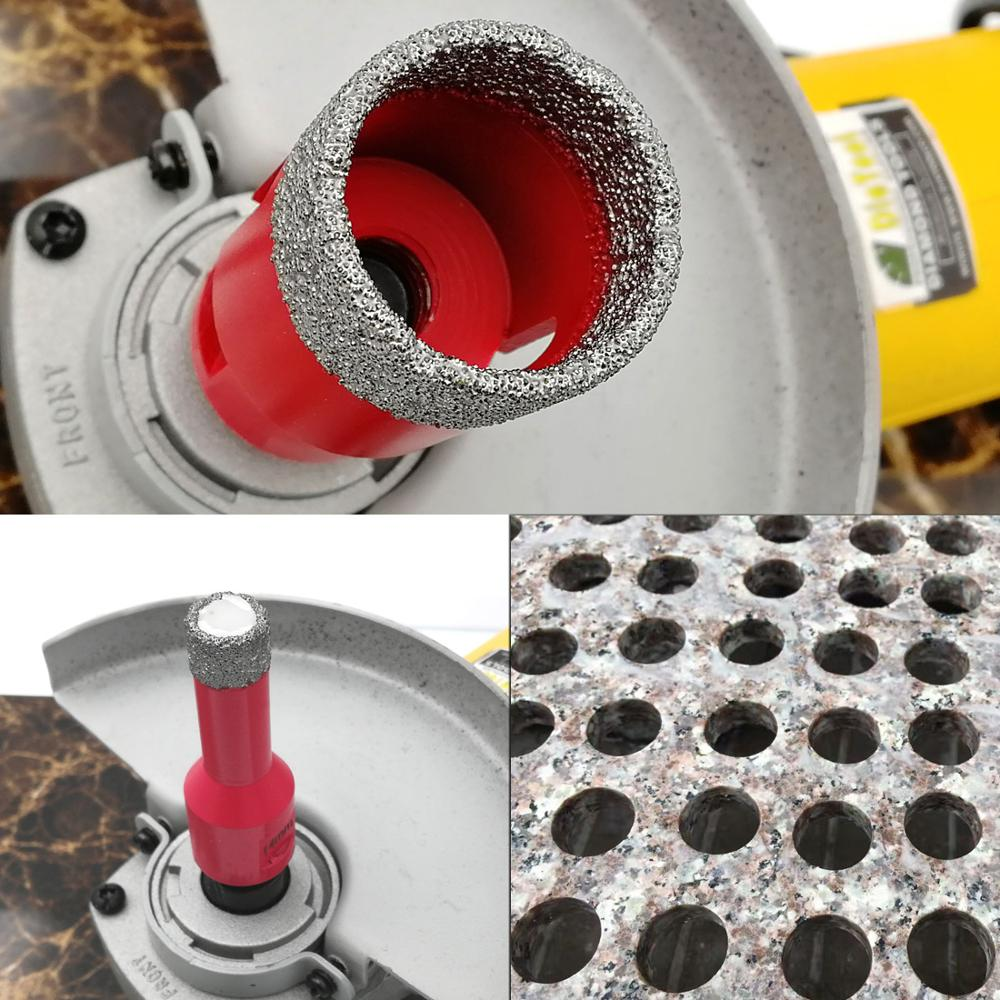 SHDIATOOL Dry Vacuum Brazed M14 Connection Diamond Drilling Core Bits Diamond Height 10mm Hole saw for porcelain tile stone in Drill Bits from Tools