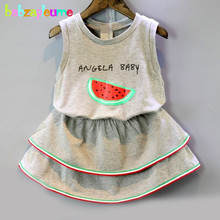 Baby Girl Dress Kids Clothes Sleeveless Toddler Dresses Children Clothing Summer infant Tracksuit 0-7Years/2016 New Style BC1436