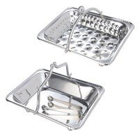Stainless steel towel basket portable hot towel basket hotel KTV room towel tray towel dish