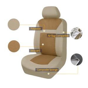 Image 4 - 2020 nowe samochodowe uniwersalne pokrowce na siedzenia samochodowe auto stylizacja Fit Interieur Accessoires Zetel Decoratie beżowe i szare czarne