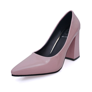 2018 new women's high heels nightclub sexy pointed wild women's single shoes Korean version of shallow patent leather work shoes Pumps