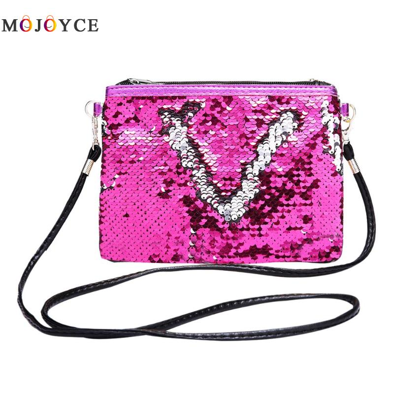 Fashion Teenage Girls Clutch Sequins Shoulder Bags Messenger Handbag Crossbody Bag for Women Bolsos Mujer shoulder bag
