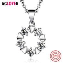 Ожерелье из серебра 925 пробы в форме сердца модное ожерелье