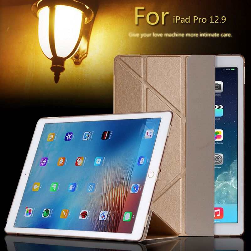 Case For Ipad Pro 12.9, Smart Leather Stand Ultra Silm Transformers Back Protective Cover For Apple Ipad Pro 12.9 Tablet
