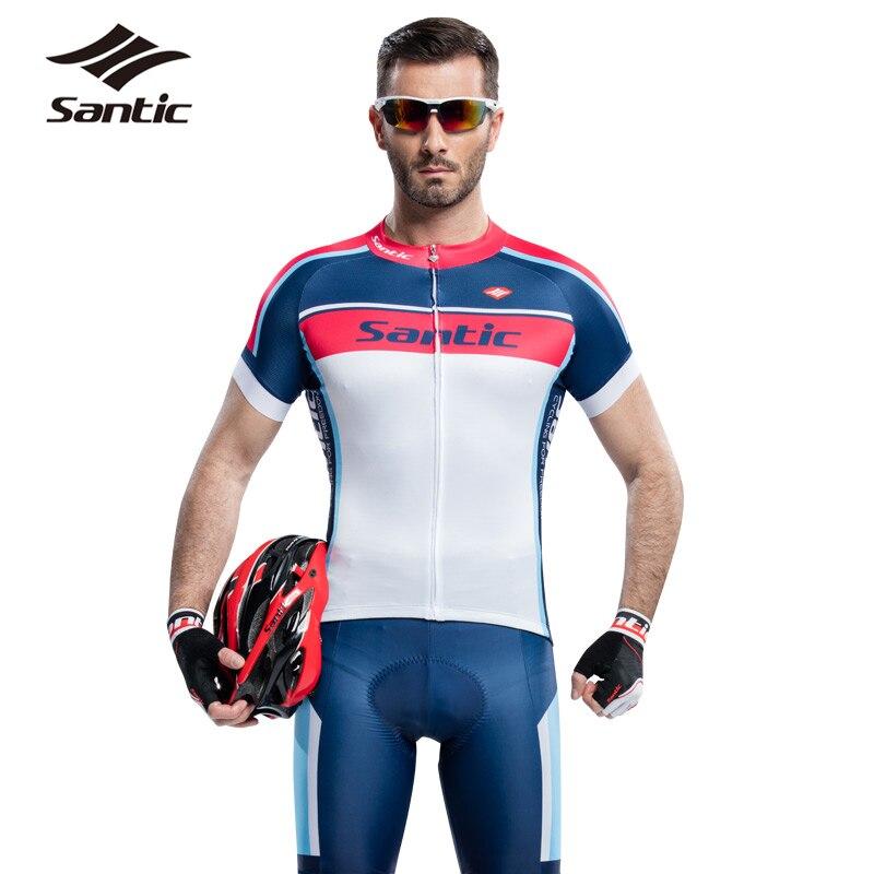 2017 Santic Men Cycling Jersey Kits Anti-UV Racing Team Sports Wear MTB Road Bicycle Bike Jersey Cycling Clothing Males S-3XL