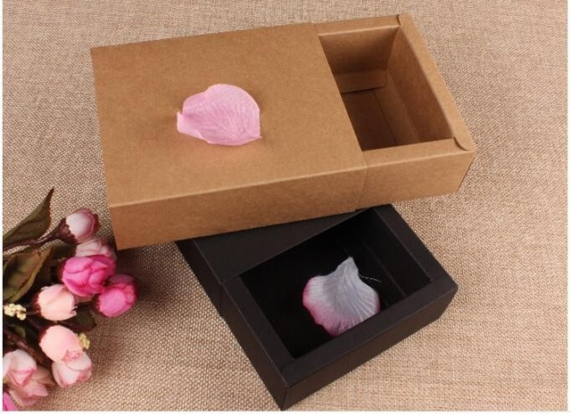 Us 11 12 5 Off Wedding Gift Packaging Drawer Kraft Box Luxury Gift Packaging Boxes Kraft Drawer Boxes Black Sliding Gift Boxes In Gift Bags