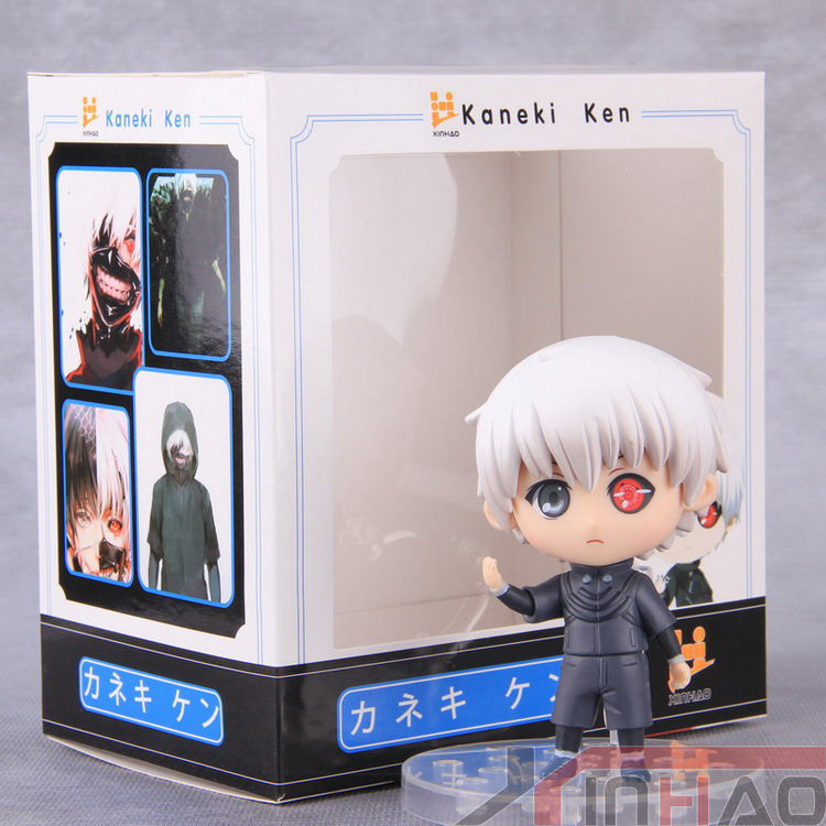 ФОТО 10cm anime tokyo ghoul kaneki ken cosplay pvc action figure q version figures collectible model toys dolls with box