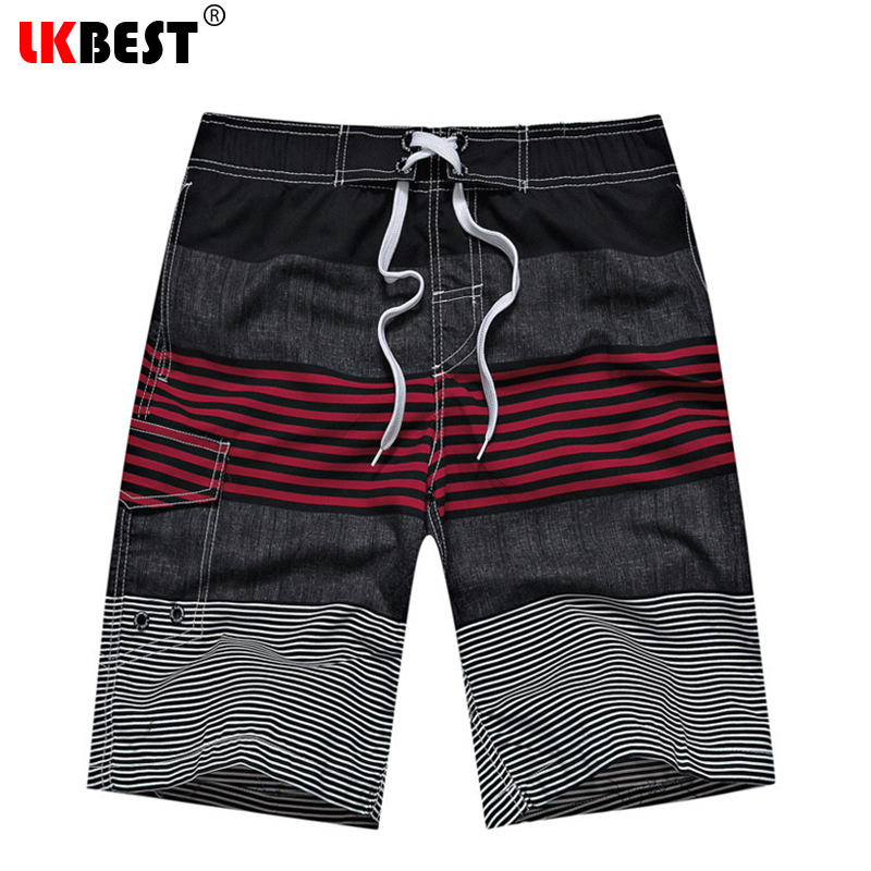 LKBEST 2019 Fashion Summer Men's Board Shorts Casual Loose Beach Shorts Quick Dry Men Swimwear Shorts European Size 18 COLORS S7