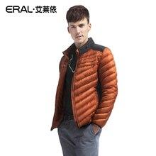 Eral 2015 зимний мужской свободного покроя стенд воротник короткий пуховик мужской лоскутное пуховик ERAL9010D