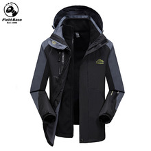 Plus Size 6XL 7XL 8XL Men's Casual Jackets Male Windbreakers Winter Jackets Warm Parka Waterproof Two Jackets In One XYN-699