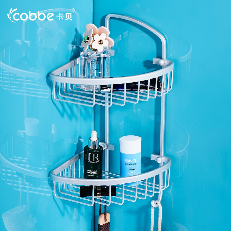 Modern decoration style satin silver bathroom shelf for Aluminium decoration