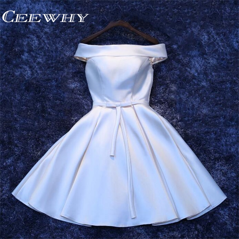 CEEWHY Robe Re Soiree Sleeveless Back Lace-up Short Formal Dresse   Cocktail     Dress   Short Wedding Party Prom   Dresses   Vestido Coctel