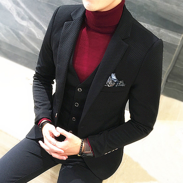 Male Plaid Wedding Dress Custom Made Men's suits Tailor Suit Blazer Suits For Men  Free Shipping 3 piece Jacket+Pants+Vest