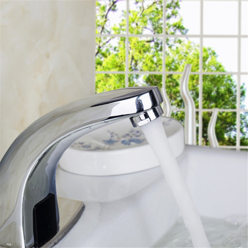 Brass Automatic Sensor Faucets Cold and Hot Water Mixer Sense Faucet Basin Hand Washer Deck Mounted Faucet sense and sensibility