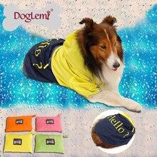 DogLemi Large dog raincoat waterproof pet jacket polyester dog coat with 4 colors available