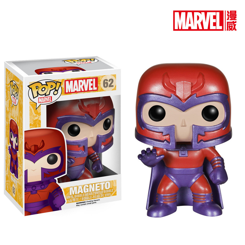 Original Funko POP Vinyl Action Figure X-Men - Magneto Bobble Head Collectible Model Toy with Original Box  funko pop marvel deadpool 20 bobble head pvc action figure collectible model toy 4 10cm kt2203