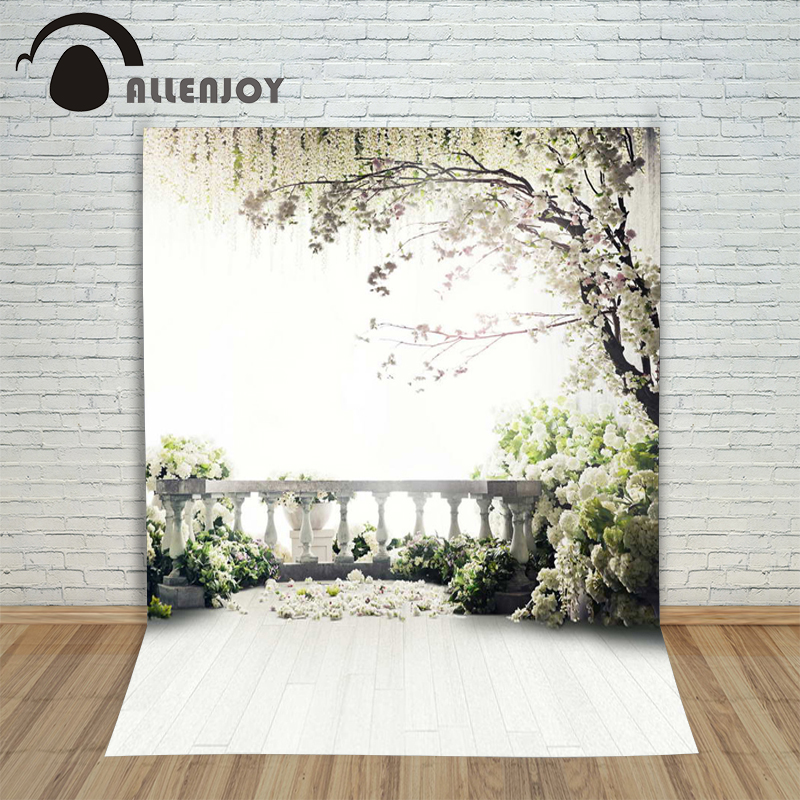 Allenjoy přírodní scéna Květiny Foto Pozadí stromy zdarma zahrada loft svatební fotografie kulisy Studio pro interiér Fotografie