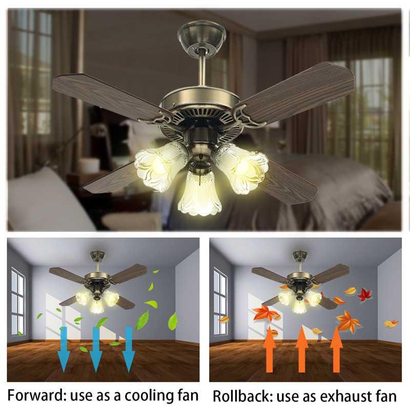 Smuxi 36/42 Inch LED Ceiling Fan For Living Room Ceiling Fans With Lights Cooling Fan Remote Fan Lamp AC110-240V computador cooling fan replacement for msi twin frozr ii r7770 hd 7770 n460 n560 gtx graphics video card fans pld08010s12hh