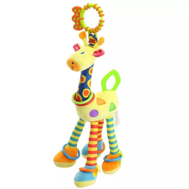 new 45cm plush Cartoon animal lion giraffes doll Wind bell baby toy Hung on me pendant Children's gift