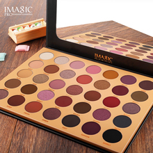 цена на IMAGIC New 35 Color Nude Color Shiny Eye Shadow Palette Color Waterproof Eye Shadow Tray Pigment Pearl Matte Cosmetics
